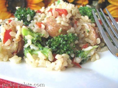 ... meal--Chicken Sausage, Broccoli and Parmesan Brown Rice Dinner | Picky