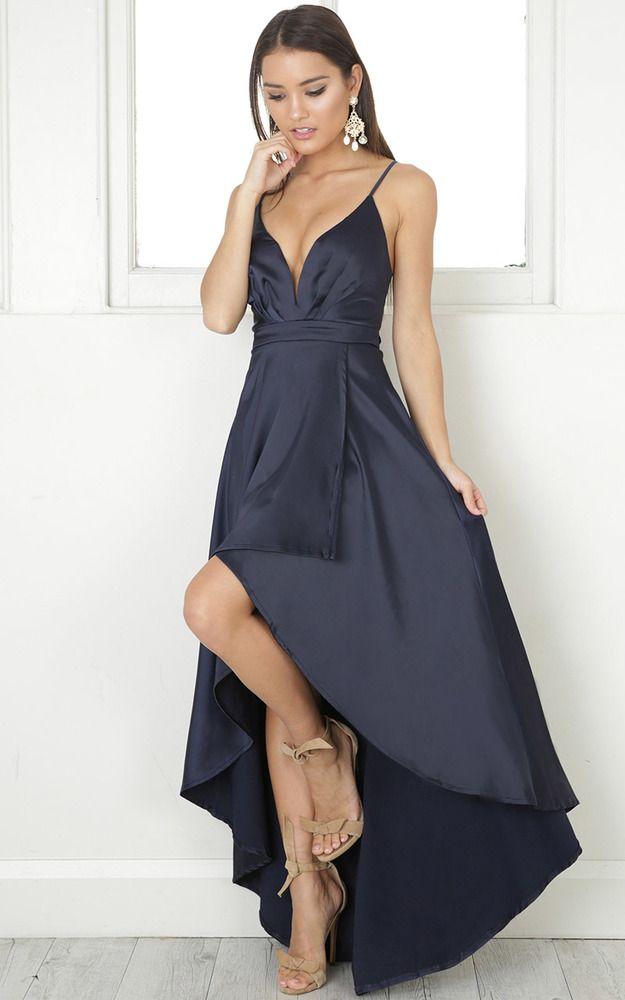 showpo, showpo dress, navy, navy dress, occasion, maxi, dress