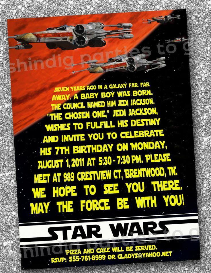 star wars birthday invitations templates free
