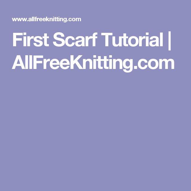 First Scarf Tutorial | AllFreeKnitting.com