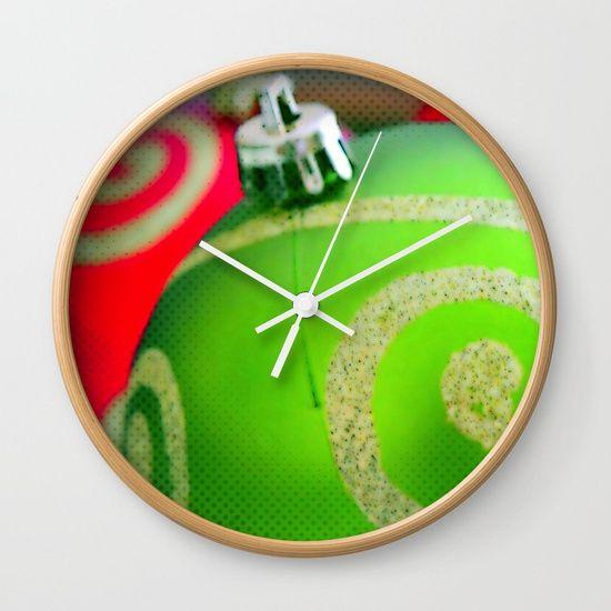 Green Christmas Ornament | Nadia Bonello | Canada Wall Clock by Tru Artwear | Society6