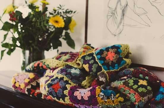 Granny Blanket Vintage Handmade