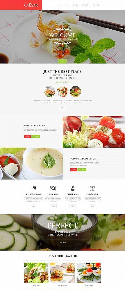 Template 58751 - Caesar Restaurant Moto CMS HTML Template