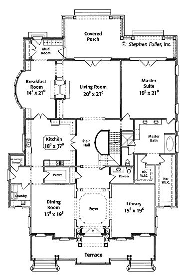 An English Manor Home (HWBDO13910) | French Country House Plan from BuilderHousePlans.com