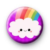 Cloudy Smiley Rainbow Badge #rainbow #badges #craft #handmade