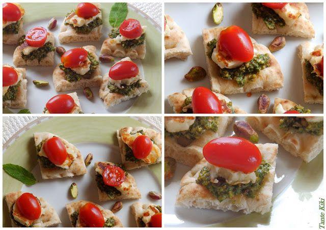Mint Pesto with Haloumi cheese by Tante Kiki