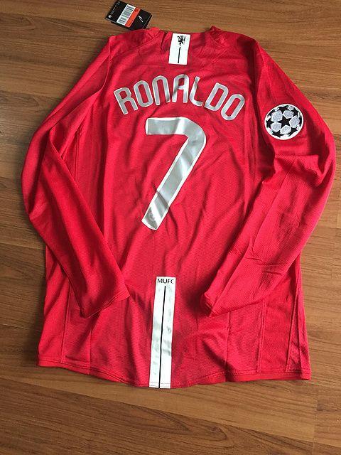 8e2fda030 Ronaldo Man United 2008 Champions League Final Retro Soccer Jersey Classic  Shirt