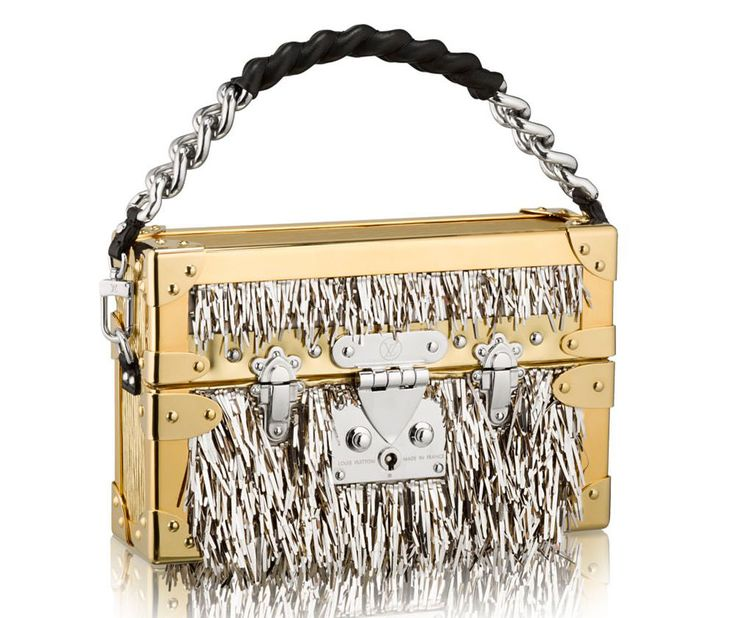Louis-Vuitton-Petite-Malle-Metallic-Fur-bag $34,000 via Louis Vuitton