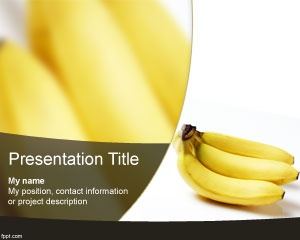 Free Banana PowerPoint Template with white background