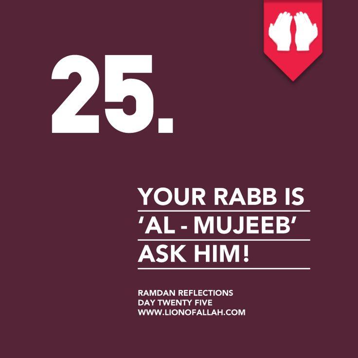 Ramadan Reflections: Day Twenty Five.