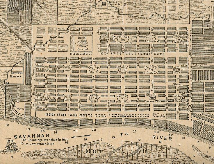 old savannah, ga map | Savannah, GA
