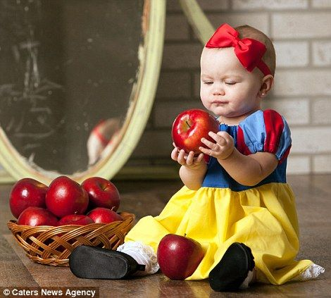 Is this the most magical baby album ever? Mother dresses daughter as Snow White, Alice in Wonderland and Red Riding Hood for adorable fairy tale photo shoot