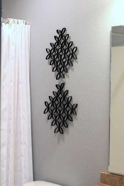 Bella decoración con rollos de papel higiénico