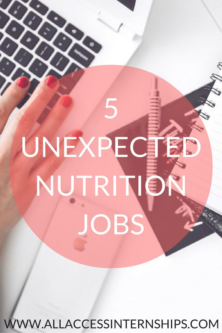 5 UNEXPECTED NUTRITION JOBS  http://www.allaccessinternships.com/blog/2016/10/10/5-unexpected-nutrition-jobs/ #RD2BE