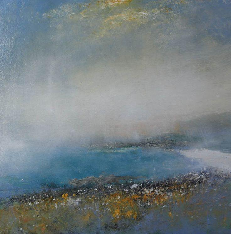 Mist above Portheras Cove No.2  Oil on canvas 80x80 cm £1600