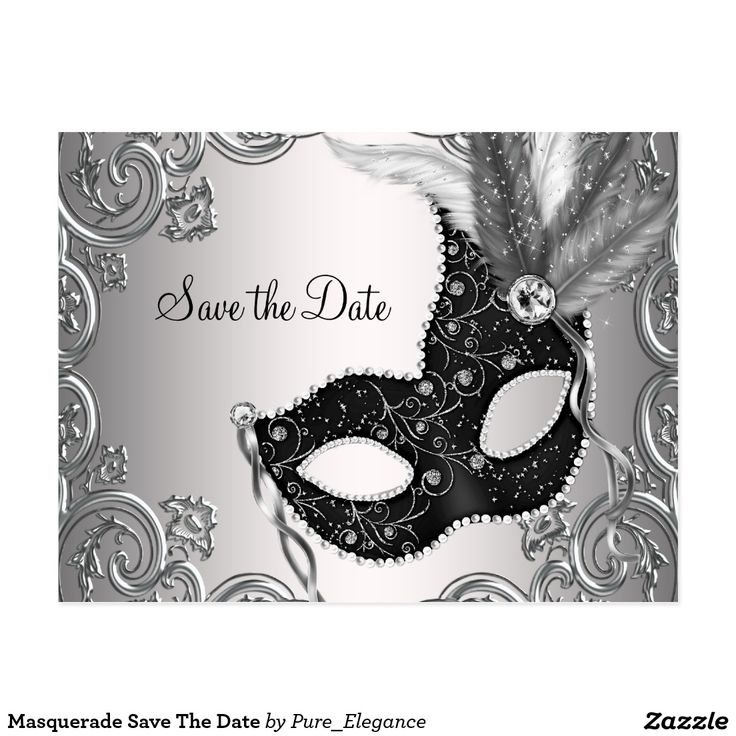 Masquerade Save The Date