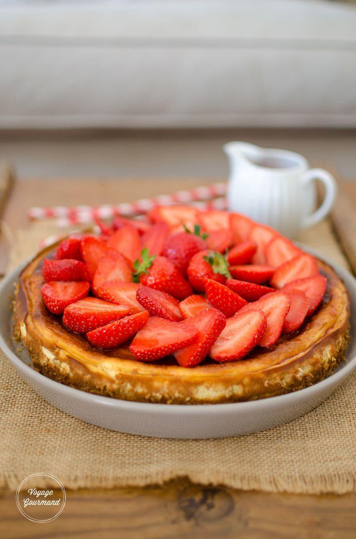 Cheesecake aux fraises - IG très bas / Voyage Gourmand