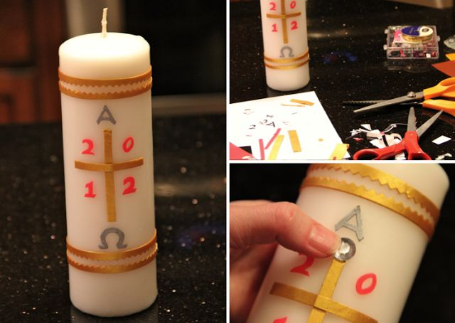 DIY Paschal Candle #Easter #Catholic