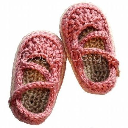 crochet mary jane baby slippers free pattern   Adorable Baby Shoes & Slippers: 12 Must-have Knit & Crochet Patterns ...