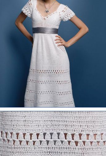 Dress simples e lindo CROCHET AND TRICOT INSPIRATION: http://pinterest.com/gigibrazil/crochet-and-knitting-lovers/