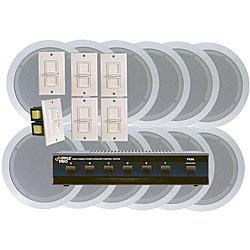 Pyle 6-room In-ceiling Speaker System