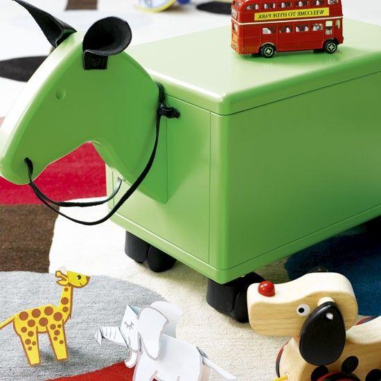 Turn a storage foot stool into a pony