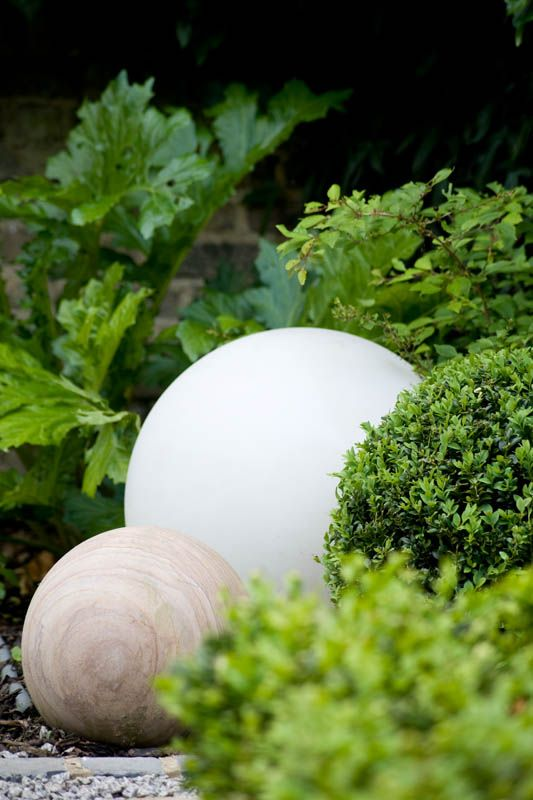 Using the same shape in a different way creates rhytmn #gardendesign #boxball #design #londongarden #earthdesigns