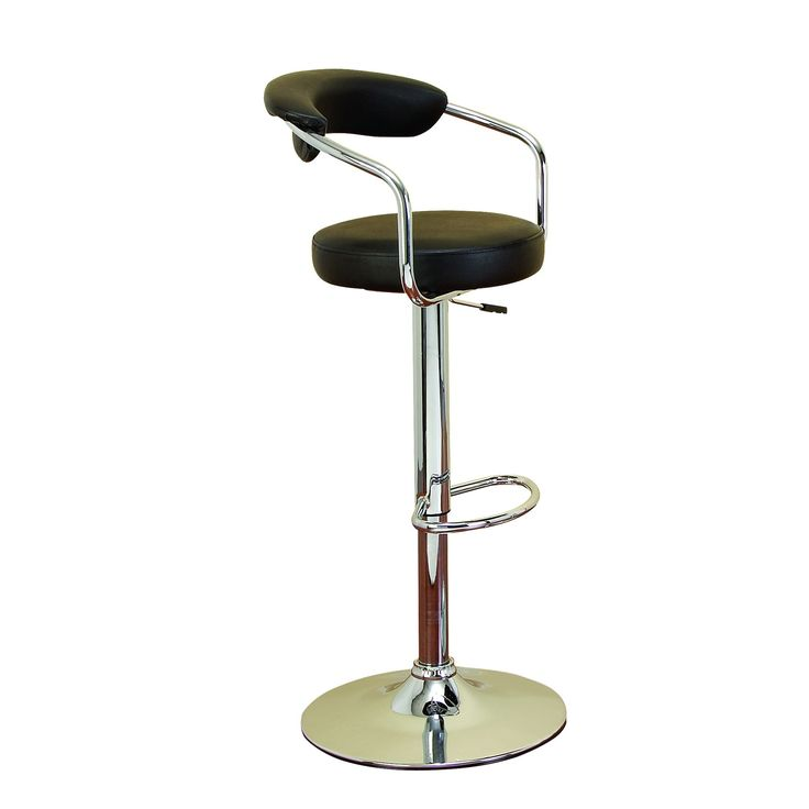 Woodland Imports 8700 Chrom Vinyl Bar Chair For Ultimate Comfort
