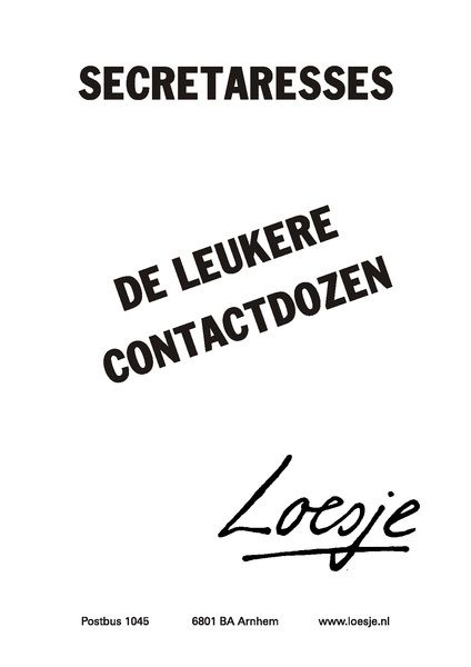 Loesje over secretaressedag