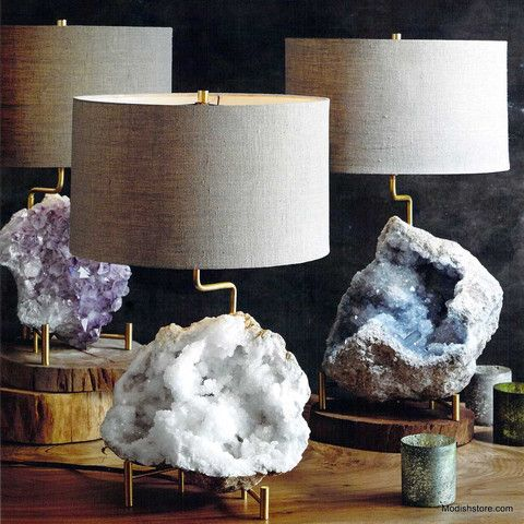 Roost Mineral Stand Lamp – Modish Store (Geode Lamps)