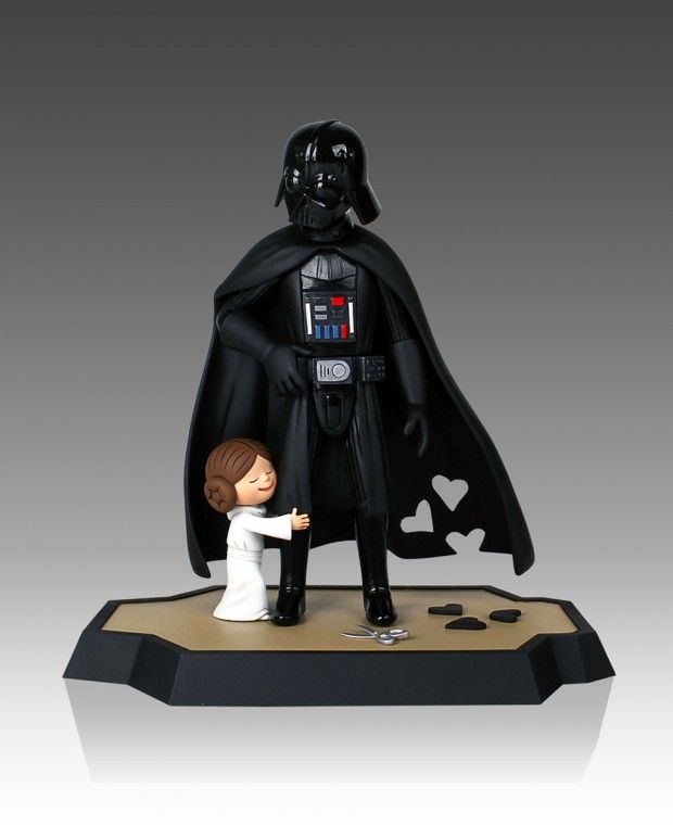 Cutest Thing You'll See Today: Darth Vader and Son & Vader's Little Princess Figurines