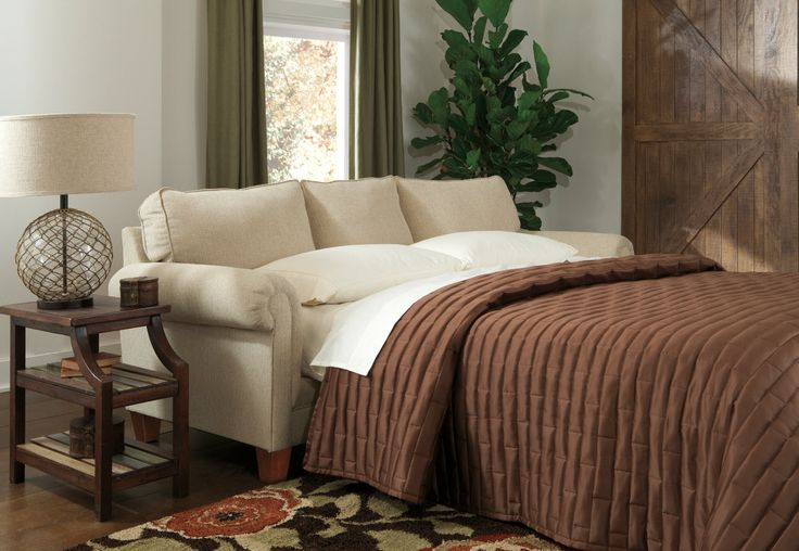 Turn your office into a guest bedroom. Great double use of space. #Ashleyrecommends