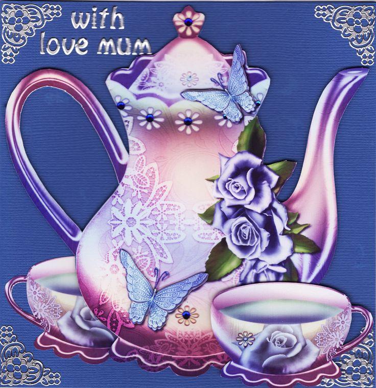 3D 'With Love Mum' Card