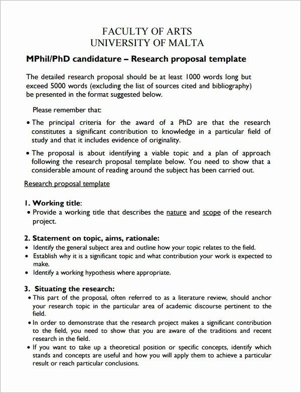 Research Proposal Outline Template Awesome Sample Research