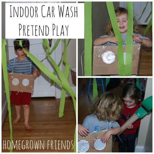 Indoor Car Wash Toddler Activity