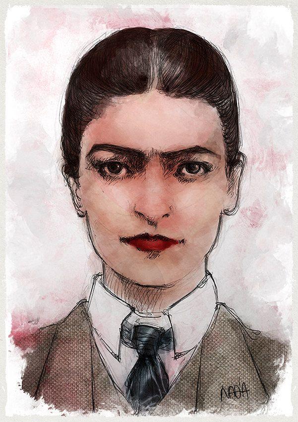 Frida Kahlo di nadiagelsomina su Etsy