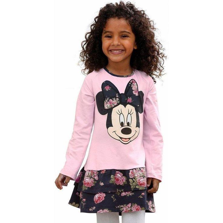 Disney Jerseyjurk Met Minnie Mouse-printmotief, Voor Meisjes