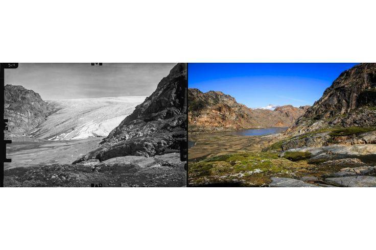 BILLEDSERIE Grønlandske før og nu billeder viser klimaændringer. Mere i linket.