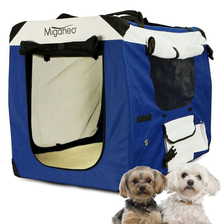 Hundetransportbox Hundebox Hundekäfig Transportkäfig klappbar Käfig S Size Blau