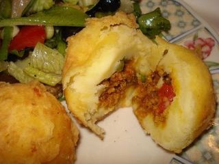 Rellenos de Papa- had these at the Puerto Rican Food Truck and LOVED them.