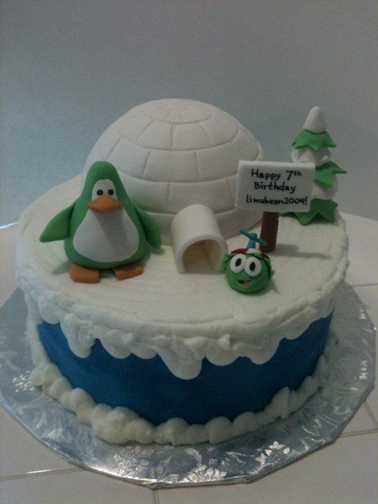 Club Penguin Cake