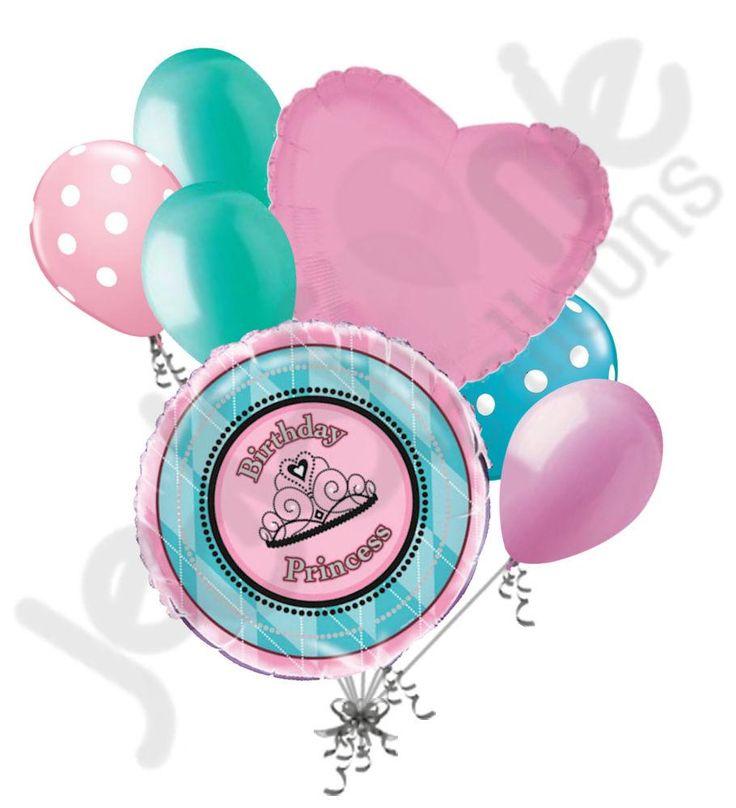 Fairytale Princess Happy Birthday Balloon Bouquet