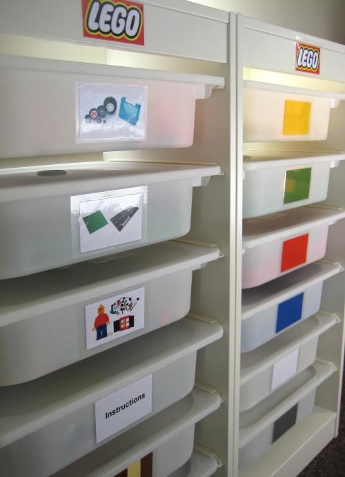 Awesome LEGO organisation using IKEA storage.
