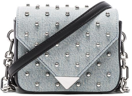 Alexander Wang Prism Envelope Chain Studded Bag