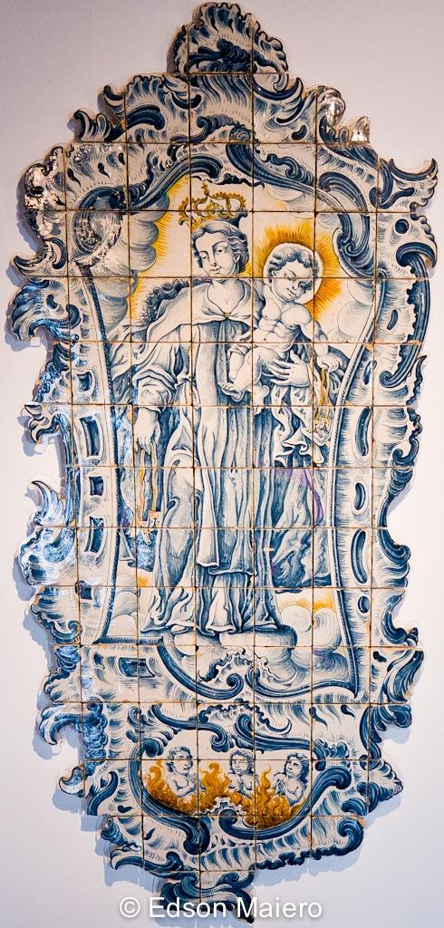 Record with Our Lady of Mount Carmel, Coimbra, 1770-1780! Registro com Nossa Senhora do Carmo, Coimbra, 1770-1780