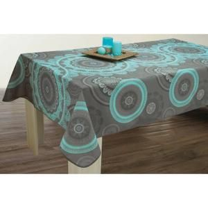 Nappe anti-taches Rectangulaire 150x240 cm - Mandala Turquoise