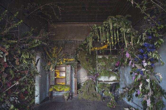 Лиза Вауд Что получится, если дать флористам 48 часов, чтобы те заполнили старые, заброшенные дома цветами? В октябре 2015 года талантливые флористы со всех Соединенных Штатов украсили ветхий дом в Детройт почти сотней тысяч цветов. Получился невероятный сказочный пейзаж.  Источник: http://www.kulturologia.ru/blogs/301215/27816/