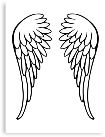 """Angel wings"""" Canvas Prints by Designzz 