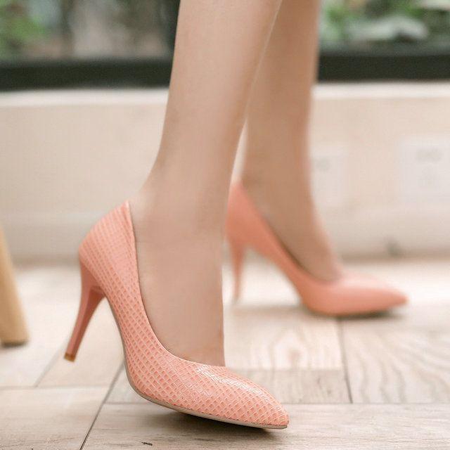 2015 весной и летом мода обувь ОЛ острым носом на высоком каблуке женские насос ПУ кожа Элегантных женщин обувь