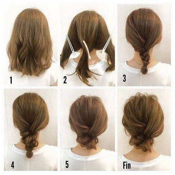 40 Quick And Easy Updos For Medium Hair Updo Easy Hair Medium Quick Updo Updos In 2020 Hair Up Styles Shoulder Length Hairdos Medium Hair Styles